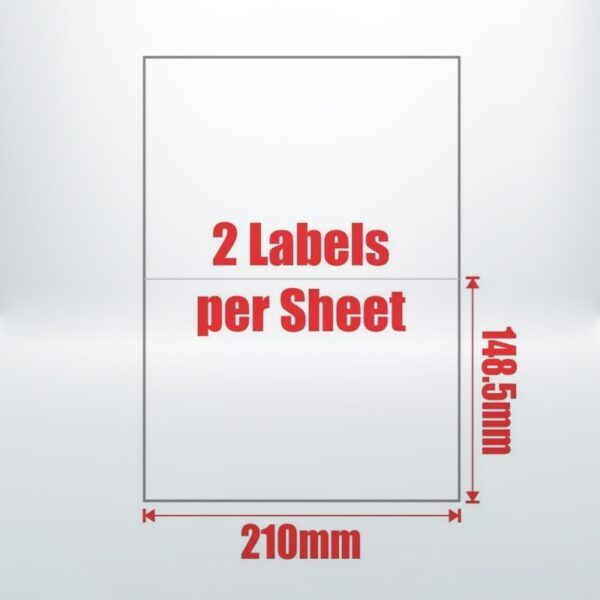 100pcs 2UP A4 Peel & Paste Office Mailing Address Sticker Labels Self Adhesive